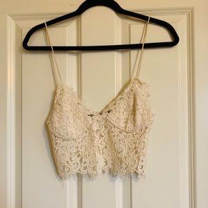 Zara Cream Lace Crop